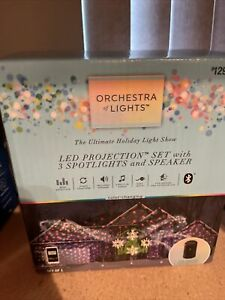 Orchestra of Lights LED Projection Set W/ 3 Spotlights Projector & Speaker  NEW