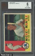 1960 Topps #350 Mickey Mantle Yankees HOF BVG 6 EX-MT