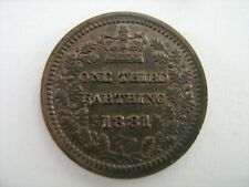 More details for 1881 third farthing - victoria - scarce coin with lustrous finish - superb.