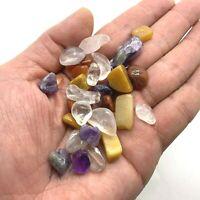 20 Semi-precious 15mm-25mm Tiny Stone Natural Gemstones MIX RANDOM Ref:04