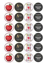 24 x Thank You Teacher Cup Cake Toppers ICING
