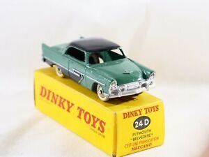 Dinky Toys F 24D Plymouth Belvedere en boîte