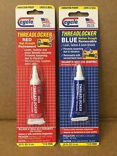 Set of Genuine Cyclo Red & Blue Threadlocker High & Medium Strength 6ML