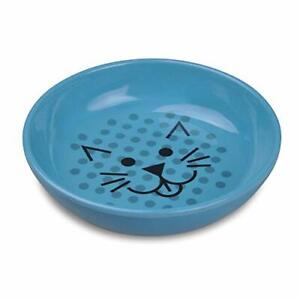 Van Ness ECOWARE Cat Dish 8 Ounce Assorted Colors Pacific Blue Single Dish ECW20