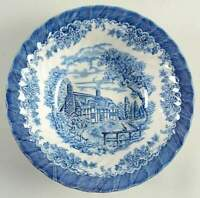 "NEW Queen's China Brook Blue - 9"" Serving Vegetable Bowl - Made in England"