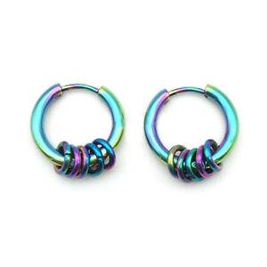 1PC New Punk Titanium Steel Ear Clip Fake Earring Hoop Ear Stud  Jewelry Gift