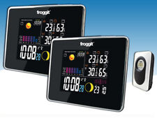 Funk Wetterstation Froggit WS50 TWIN (2 Displays )Schwarz Full Color Display
