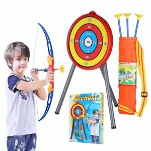 Kids Archery Set Toy Bow Arrow Target Children Junior Indoor Outdoor Fun Game