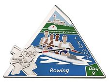 "OFFICIAL LICENSED LONDON 2012 OLYMPIC GAMES PIN / BADGE ""ROWING"" DAY #9"