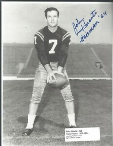 John Huarte 8.5x11 Paper/Photo signed/auto - Lot of 2 - Notre Dame Collection