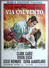 GONE WITH THE WIND * CineMasterpieces ITALIAN ITALY ORIGINAL HUGE MOVIE POSTER