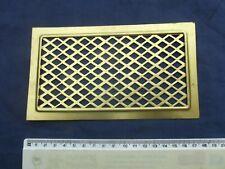 Diamond Pierced Rectangular Open Slot Brass Air Flow Grille Ventilation Cover