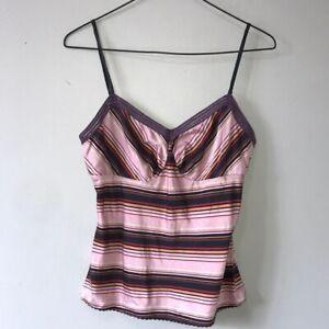 The Limited Vintage Purple Stripe Silk Tank Top S