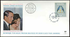 Netherlands Antilles 1966 Royal Marriage FDC First Day Cover #C26594