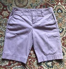 Caslon Nordstrom Women's Shorts Purple Flat Front Size 2P Cotton Spandex