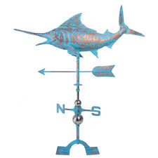 Copper Patinated Finish Handcrafted Sword Fish Weathervane for Farmhouse Outdoor