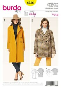 Burda Style Schnittmuster - Jacke & Mantel - Spatenkragen - Nr. 6736
