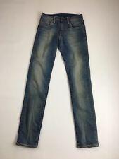 """Levi's 511 Jeans Ajustados"""""""" - W27 L32-lavado Descolorido Azul Marino-Excelente Estado"""
