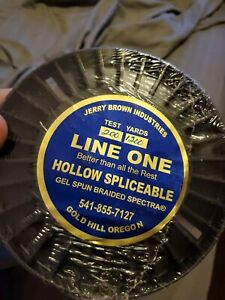 JERRY BROWN LINE ONE  HOLLOW SPLICEABLE SPECTRA 200 Lb X 1200 yds Lowered Price!