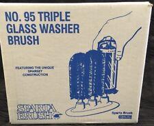 Vtg New Old Stock Carlisle Sparta Commercial Grade Triple Brush Bar Glass Washer
