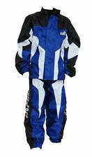 Wulfsport Waterproof blue silver logo motocross motorbike kids leisure age 3-4