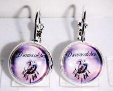 Ohrringe Traumfänger Dreamcatcher Rosa Damen Ohrschmuck Modeschmuck Glas