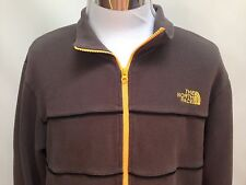The North Face Full Zip Fleece Jacket Brown w Orange Accents size Large