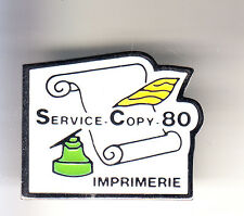RARE PINS PIN'S .. ART LIVRE PRESSE ECRITURE PLUME STYLO IMPRIMERIE COPY 80 ~CK