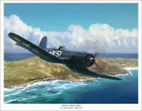 """Marine Fighter Pilot"" - Mark Karvon - F4U Corsair"