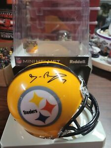 Ben Roethlisberger autographed/signed Yellow Steelers MINI HELMET