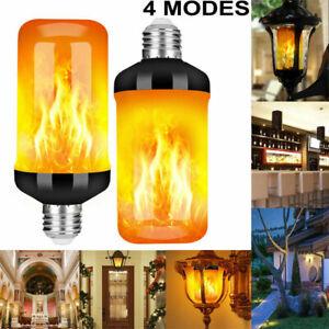 E27 B22 96LED Flame Effect Fire Light Bulb Flickering Flame Bulb Lamp Decor UK