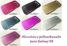 FUNDA CARCASA ALUMINIO Y POLICARBONATO PARA SAMSUNG GALAXY S3 I9300 MIX