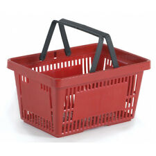 Cestino spesa in plastica per supermercato - ROSSO