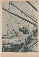 """Original WW2 German Postcard """"Suppies For North Africa"""" Afrika Corps RARE"""