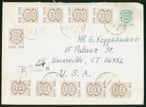 Mayfairstamps Estonia to Uncsville CT Coat of Arms Block Cover wwr_03887