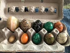 Ten (10) Various Stone Eggs
