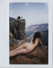 OOAK Original Instax Wide Polaroid Photo - Nude Women Brunette Nature Desert