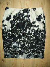 Worthington Womens Skirt Sz 8 Black White Straight Pencil Watercolor Career