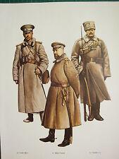 VINTAGE WW1 WWI PRINT RUSSIA CAPTAIN GUERICH JAGERSKI MAJOR GENERAL JUNIOR N.C.O