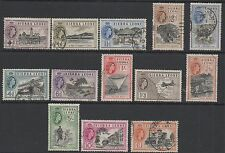 Sierra Leone 1956 SG210-222 Fine used set stamps