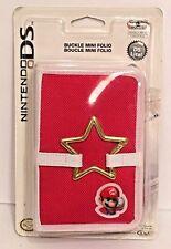 Super Mario Nintendo DS Case Buckle Mini Folio Red & White NEW IN BOX