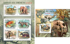 Animals of America Frogs Elephants Elefanten Fauna Mozambique MNH stamp set