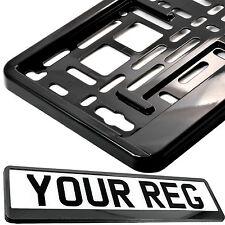 SUPER BLACK Car Number Plate Surround Holder FOR ANY CAR TRUCK VAN TRAILER CAR