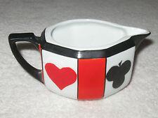 Antique/Vintage Czech China Tea Set Poker Suit Red/Black - Creamer
