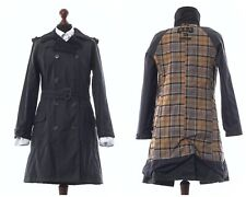 Women's BARBOUR Valerie Trench Coat Jacket Wax Waxed Black Size UK 10 US 6