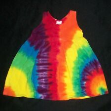 Tie Dye Infant Dress Rainbow 3 month Empire Waist Baby Hippie Hand Tye Dyed