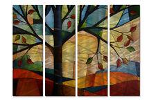 Metal Wall Art Tree Abstract At Sunset Peggy Davis 4 Piece Set Modern Decor
