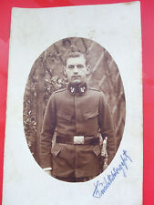 WWI world war one military postcard soldier portrait musician with sword 1916