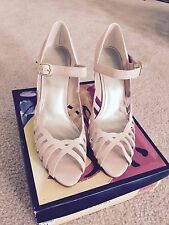 Womens Fioni size 11 Blush Pink Peek toe heel