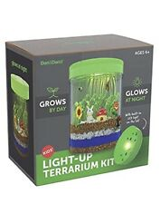 STEM Light-up Terrarium Kit for Kids with LED Light on Lid - Great Science Gift